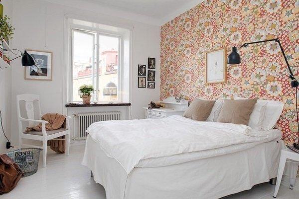 шведские обои в спальне