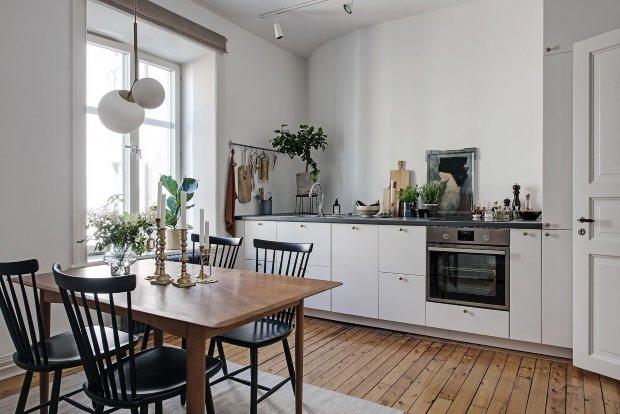 кухня без полок и шкафов