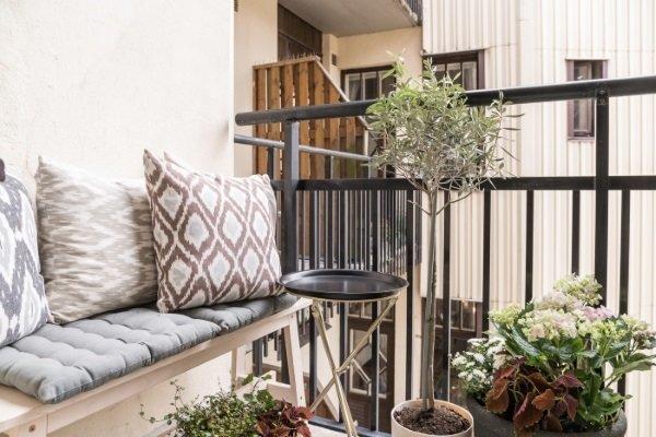балкон в шведской квартире
