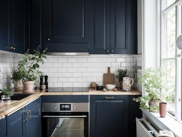 синяя скандинавская кухня