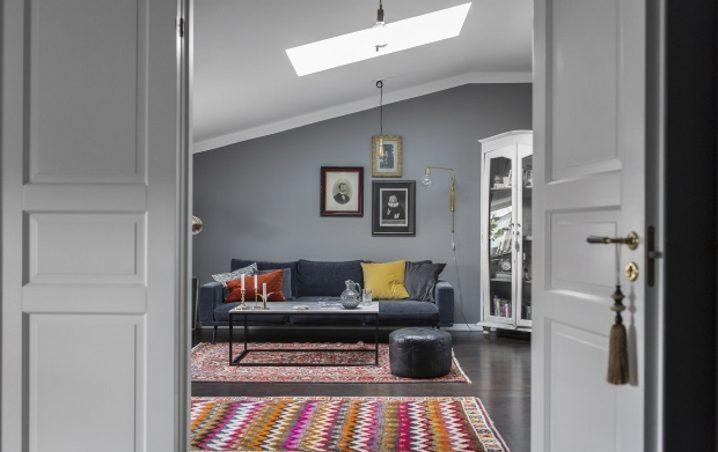 Скандинавская квартира ретро в современном интерьере