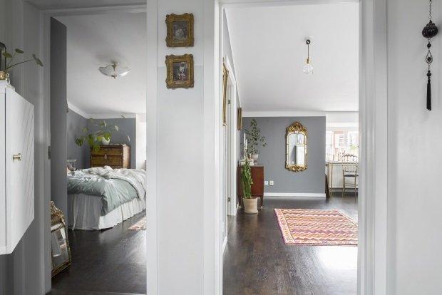 проходные комнаты в скандинавской квартире