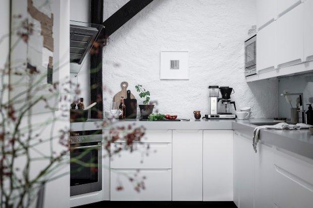 Современная квартира: кухня в современной шведской квартире