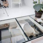 Современная квартира: окна на полу кабинета