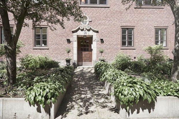 Современная квартира: многоквартиный дом в Швеции