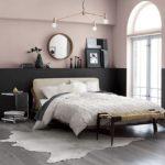 Спальня в скандинавском стиле: розовая с черным