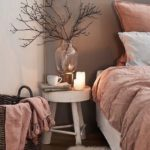 Спальня в скандинавском стиле: розовые тона