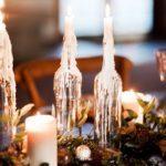 Свечи на столе на Хэллоуин