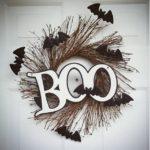 Венок Boo с ветками и мышами на Хэллоуин
