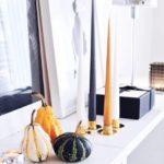 Свечи черная, белая и оранжевая на Хэллоуин