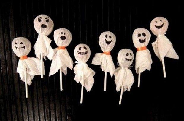 Леденцы приведения на Хэллоуин