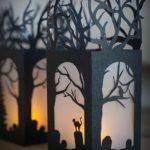 Фонарики из черной бумаги на Хэллоуин