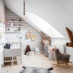 Детская в скандинавском стиле: детская на мансарде