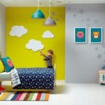 Детская в скандинавском стиле: очень яркая комната