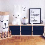 Детская в скандинавском стиле: светильник miffy в интерьере