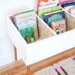 Детская в скандинавском стиле: ящик для книг