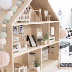 Детская в скандинавском стиле: деревянный домик