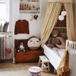 Детская в скандинавском стиле: в коричневых тонах