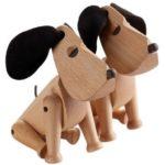 Детская в скандинавском стиле: деревянные собаки