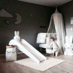Детская в скандинавском стиле: серая детская