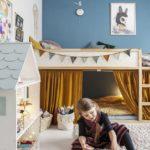 Детская в скандинавском стиле: КЮРА с флажками и шторками