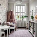 Детская в скандинавском стиле: красивая комната для девочки