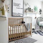 Детская в скандинавском стиле: спальня для малыша в серых тонах