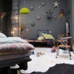 Детская в скандинавском стиле: темная волшебная комната