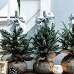 Новогодние украшения 2019: елочки в мешках