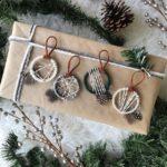 Новогодние украшения 2019: подвески из ниток