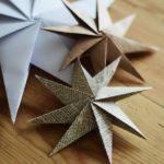 Новогодние украшения 2019: звезды из газеты