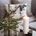 Новогодние украшения 2019: свеча и елка