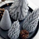Новогодние украшения 2019: фетровые елки
