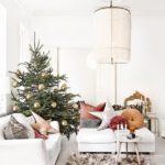 Новогодние украшения 2019: елка с золотыми шарами