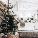 Новогодние украшения 2019: Елка с золотистыми украшениями