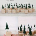 Новогодние украшения 2019: адвент календарь коробочки с елочками
