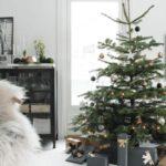 Новогодние украшения 2019: елка с золотой звездой