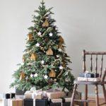 Новогодние украшения 2019: елка с украшениями-домиками