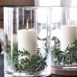 Новогодние украшения 2019: новогодние свечи в стаканах