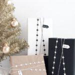 Новогодние украшения 2019: упаковка подарков с бусами