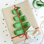 Новогодние украшения 2019:подарочная упаковка с елкой
