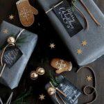 Новогодние украшения 2019: серая подарочная упаковка