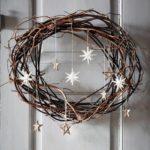 Новогодние украшения 2019: венок из лозы