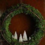 Новогодние украшения 2019: венок с фигурками елок