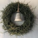 Новогодние украшения 2019: рождественский венок с колоколом