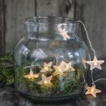 Новогодние украшения 2019: гирлянда звезды в банке