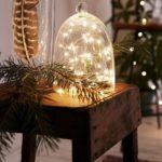Новогодние украшения 2019: рождественская гирлянда под стеклянным колпаком