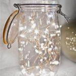 Новогодние украшения 2019: подсветка нить в банке