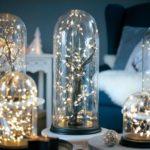 Новогодние украшения 2019: подсветка под стеклянным колпаком