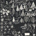 Новогодние украшения 2019: большой новогодний рисунок на стене